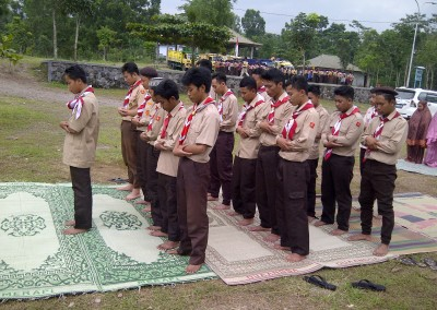 Kegiatan Pramuka SMA ISLAM 1 GAMPING